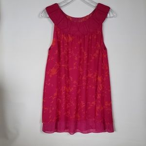 Cabi sleeveless floral 2 layers tunic top M